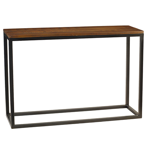 Burlington Iron & Wood Console Table Medium, Rustic Honey