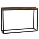 Burlington Iron & Wood Console Table Medium, Rustic Gray Wash