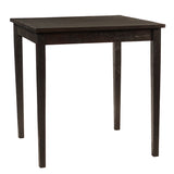 "Farmhouse Dining Table 40"" x 40"" x 36"", Espresso"