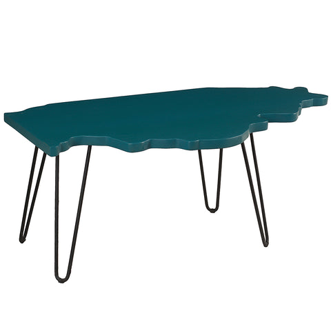 Illinois Coffee Table, Teal