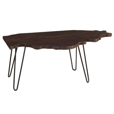 Illinois Coffee Table, Dark Mahogany