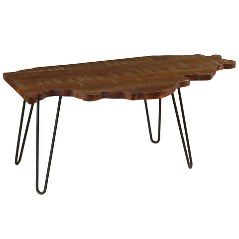 Illinois Coffee Table, Rustic Honey