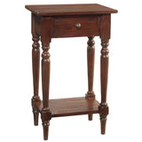 Gino Pedestal Table, Dark Mahogany