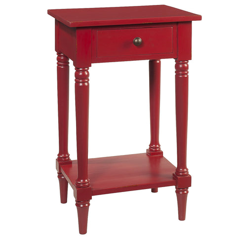 Gino Pedestal Table, True Red