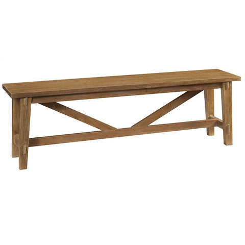 Rustic Bench, Gray Wash