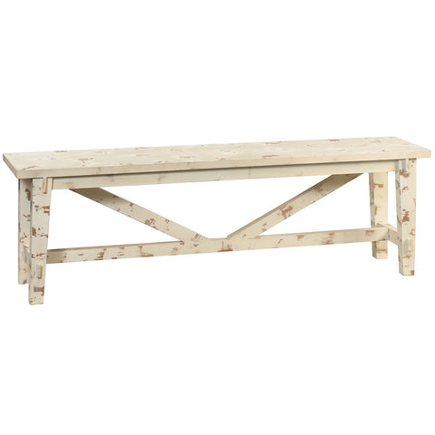 Rustic Bench, Rustic White