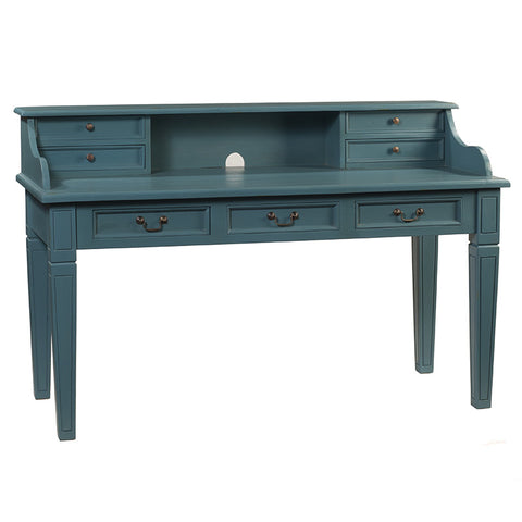 Samuel Hand-Carved Piano Desk, Teal