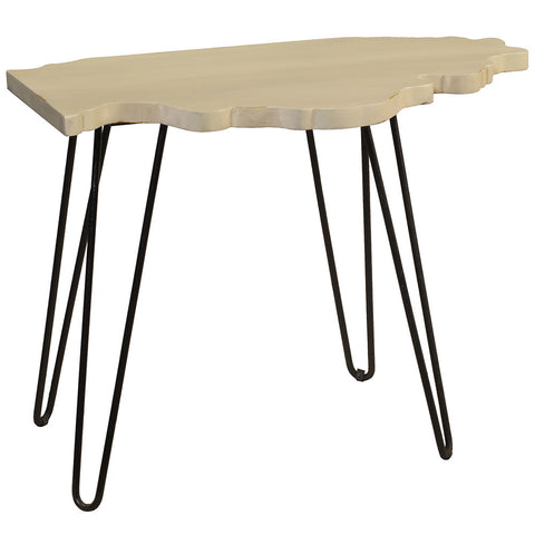 Illinois End Table, Cloud White