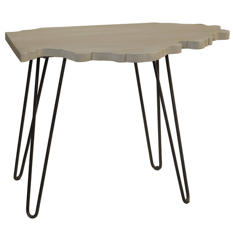Illinois End Table, Glacier Gray