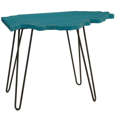 Illinois End Table, Ocean Green
