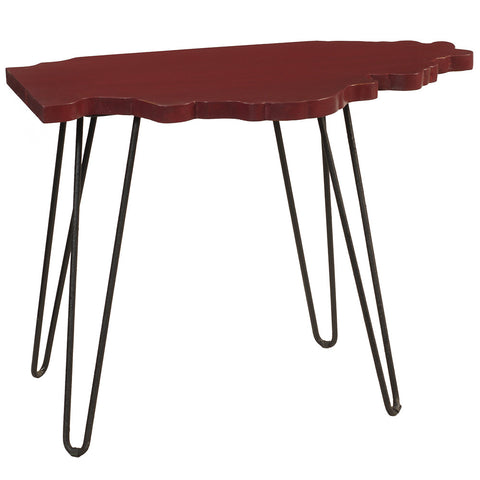 Illinois End Table, Ruby Red