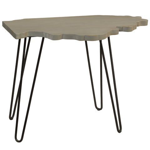 Illinois End Table, Silver Gray