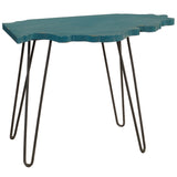 Illinois End Table, Teal