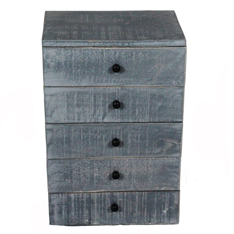 Nora Tabletop Chest of Drawers, Grey Distress
