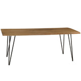 Live Edge Dining Table, Gray Wash