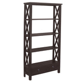 Allison Bookcase Large, Espresso