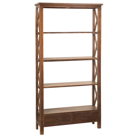 Allison Bookcase Large, Dark Gray wash