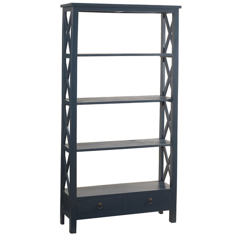 Allison Bookcase Large, Navy