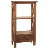 Allison Bookcase Small, Dark Gray wash