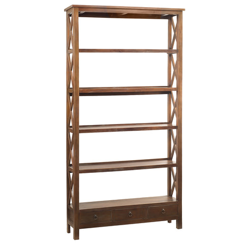 Allison Bookcase Extra Large, Dark Gray wash