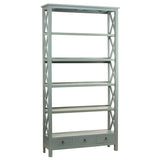 Allison Bookcase Extra Large, Slate Blue
