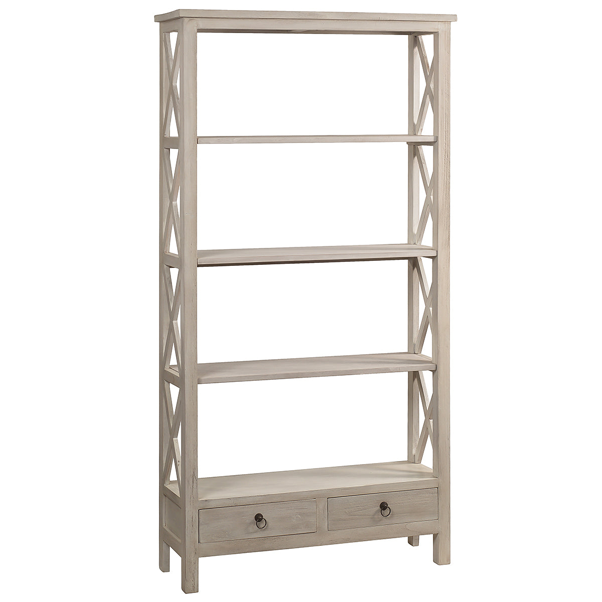 washed white chic bookcases image rustic whitewash library bookcase shabby ladder whitewashedwash with