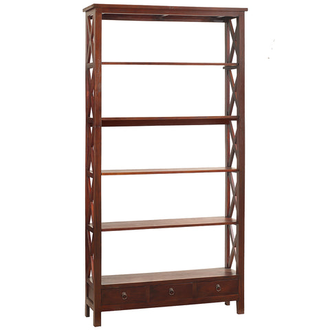 Allison Bookcase Extra Large, Light Mahogany