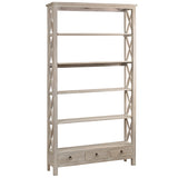 Allison Bookcase Extra Large, Whitewash