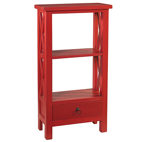 Allison Bookcase Small, True Red