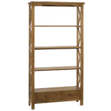 Allison Bookcase Large, Gray Wash