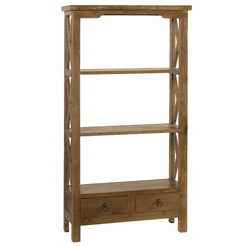 Allison Bookcase Medium, Gray Wash
