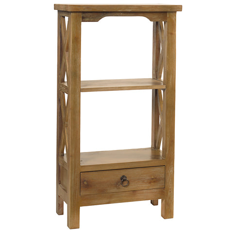Allison Bookcase Small, Gray Wash