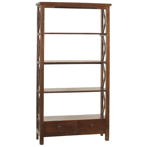 Allison Bookcase Large, Light Mahogany