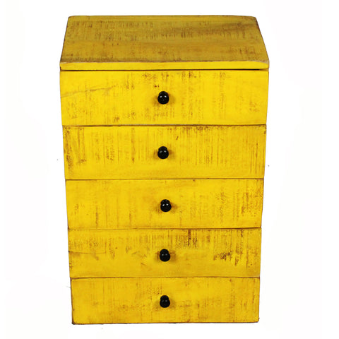 Nora Tabletop Chest of Drawers, Yellow