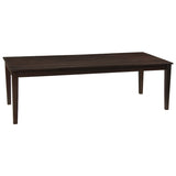 "Farmhouse Dining Table 94"", Dark Mahogany"