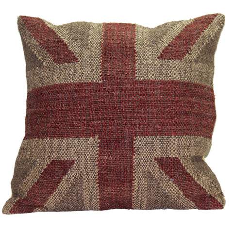 Union Jack Pillow Beige