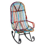 Cloth Strip Rocking Chair