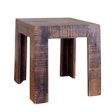 Tiny Wood Stool, Antique Natural Dark