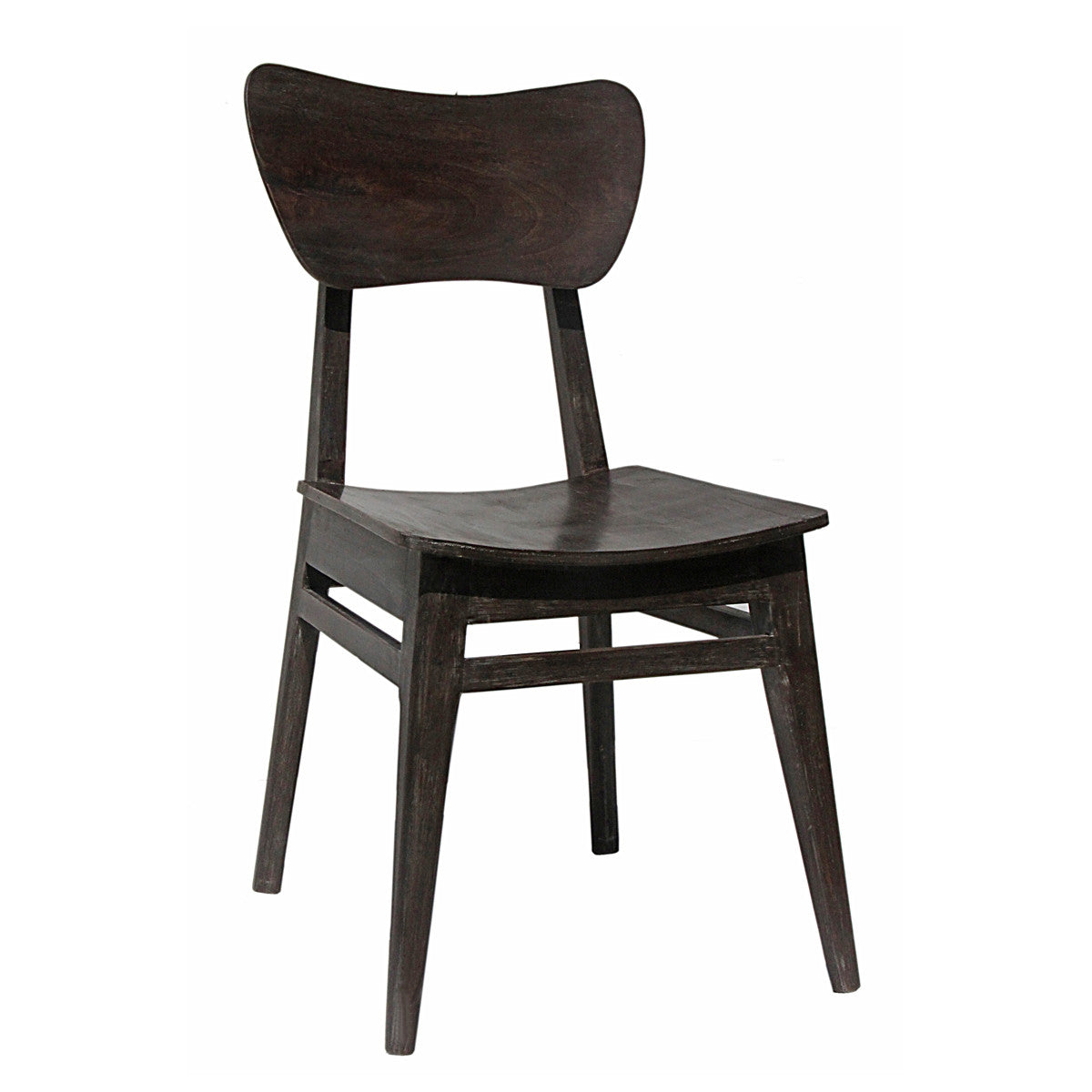 Delicieux Mod Wood Chair, Dark Grey Distress