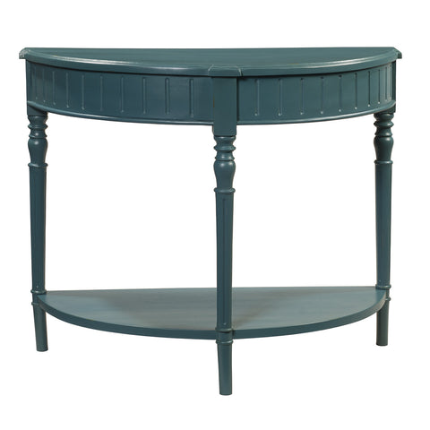 Fantina Demilune Console, Teal