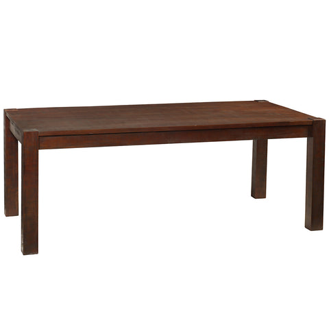 "Modern Rustic Dining Table 78"", Rustic Tobacco"