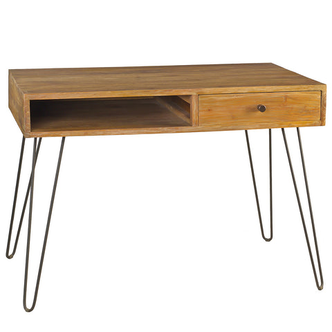 Chelsea Modern Desk, Gray Wash