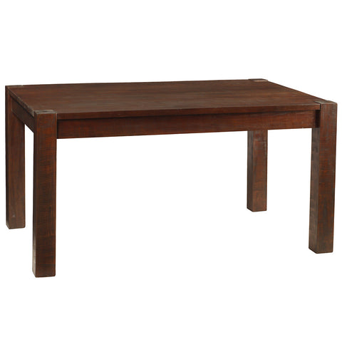 Modern Rustic Dining Table Medium, Rustic Tobacco