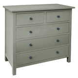 Bethany 5 Drawer Dresser, Slate Blue