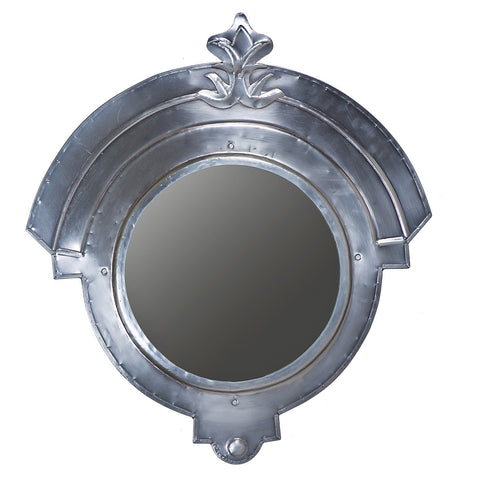 Gladiator Iron Mirror Frame, Antique Nickel