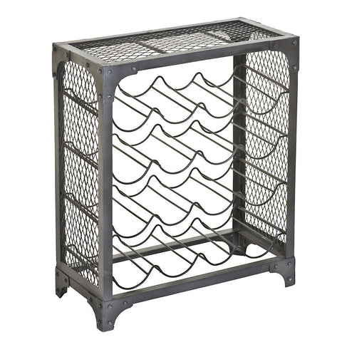 Maximus Iron Wine Rack, Natural Iron