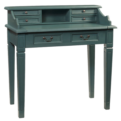 Sema Hand-Carved Piano Desk, Ocean Green