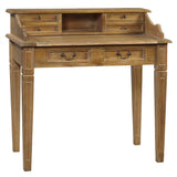 Sema Hand-Carved Piano Desk, Gray Wash