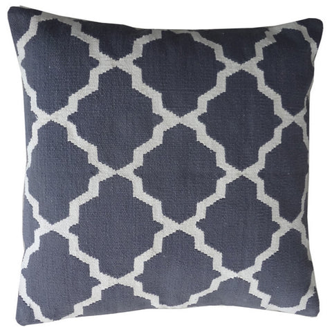 Trellis 22x22 Pillow, Slate Blue