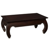 Samar Opium Coffee Table, Dark Mahogany